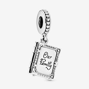 Authentic Pandora Our Family Book Dangle Charm